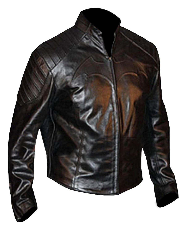 Leather OutwearMen's Batman The Dark Knight Rises Black Leather Jacket