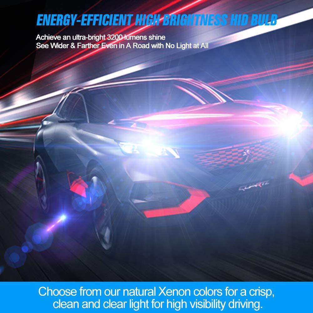 Auto Lampada di Ricambio 12V 35W 6000K Confezione da 2 D2S HID Xenon Lampadina