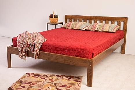 Marvelous The Danforth Platform Bed Frame Queen Milk White Customarchery Wood Chair Design Ideas Customarcherynet