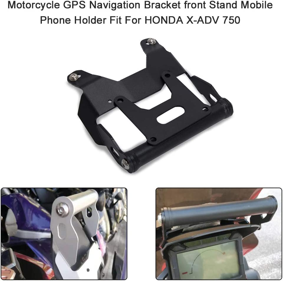Kkmoon Motorrad Gps Navigation Halter Vorne Bar Ständer Handy Gps Halter Für Honda X Adv 750 Auto