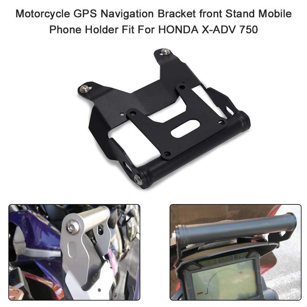 Support GPS pour Fit pour HON DA X-ADV 750 KKmoon Support de Navigation GPS pour Moto avec Support Avant pour T/él/éphone Portable