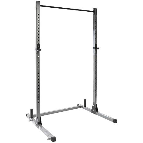 Jaula de potencia para barras y sentadillas de DTX Fitness: Amazon ...