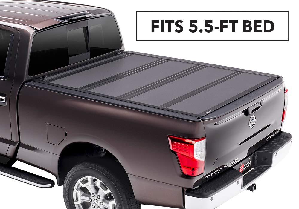 BAKFlip MX4 Hard Folding Truck Bed Tonneau Cover | 448525 | fits 2017-18 Nissan Titan 5' 6