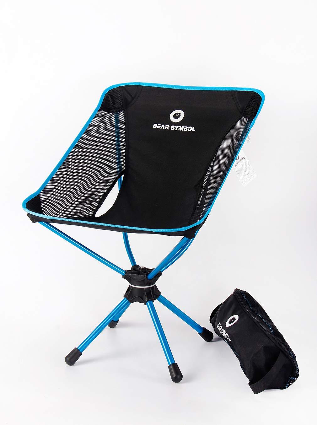 DUBAOBAO Camping Stuhl Portable Outdoor Ultralight Camping BBQ Stuhl Angeln Stuhl Outdoor Klappstuhl + Luftfahrt Grade 7075 Aluminiumlegierung Material