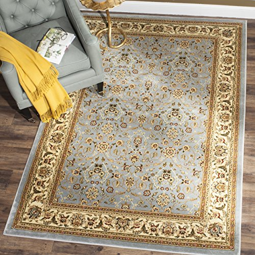 Safavieh Lyndhurst Collection LNH312B Traditional Oriental Light Blue and Ivory Area Rug (6' x 9')