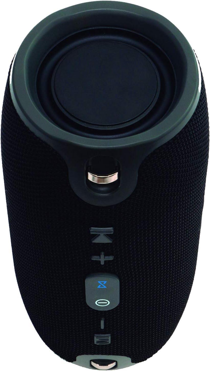 Elbe ALT-157-BT - Altavoz bluetooth portatil de 10 w de potencia, función manos libres, USB, micro SD mp3, aux-in 3.5 mm, batería litio recargable 1200 mah/3.5 v, color negro