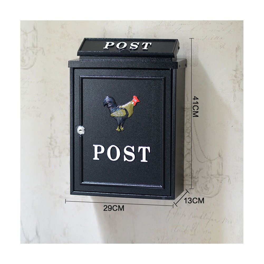 European classical villa mailbox Pastoral retro wall letter box Waterproof outdoor Thicker Post mailbox with lock British style