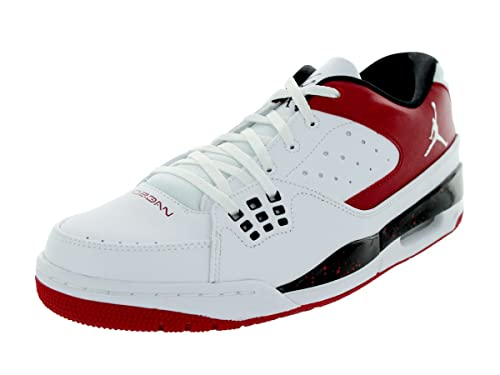 detailed look c6479 9c4a6 Nike Jordan Men s Jordan SC-1 Low White White Gym Red Black Basketball Shoe  9 Men US  Amazon.ca  Shoes   Handbags