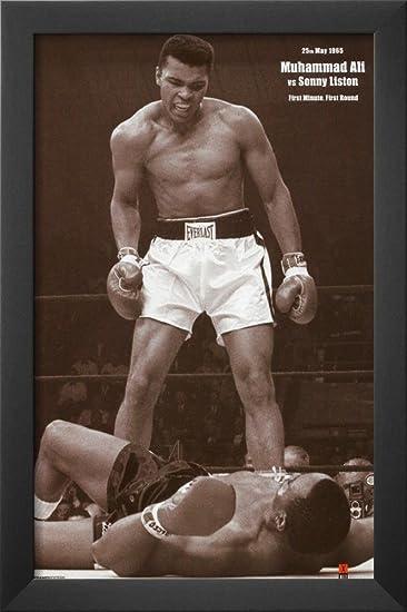 muhammad ali framed poster 13 x 19in - Muhammad Ali Framed Pictures