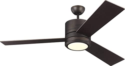 Monte Carlo 3VNMR56RBD-V1 Vision Max Modern 56 Outdoor Ceiling Fan with LED Light and Wall Remote Control, 3 Blades, Roman Bronze