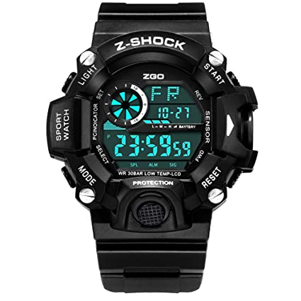 JHGFRT Kid Watch 50M Impermeable Deportivo LED Cronómetro Alarma Reloj Digital Niño Cuarzo Reloj De Pulsera