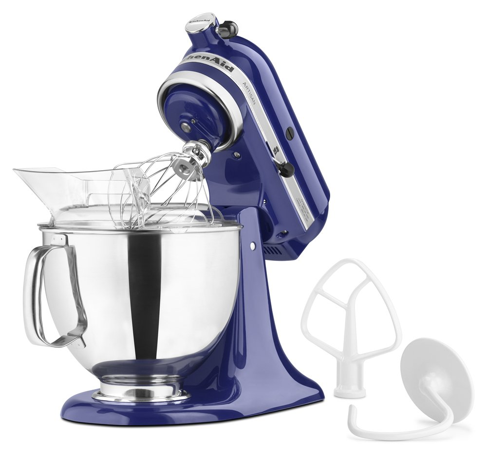 KitchenAid KSM150PSBU Artisan Series 5-Qt. Stand Mixer with Pouring Shield - Cobalt Blue by KitchenAid (Image #2)