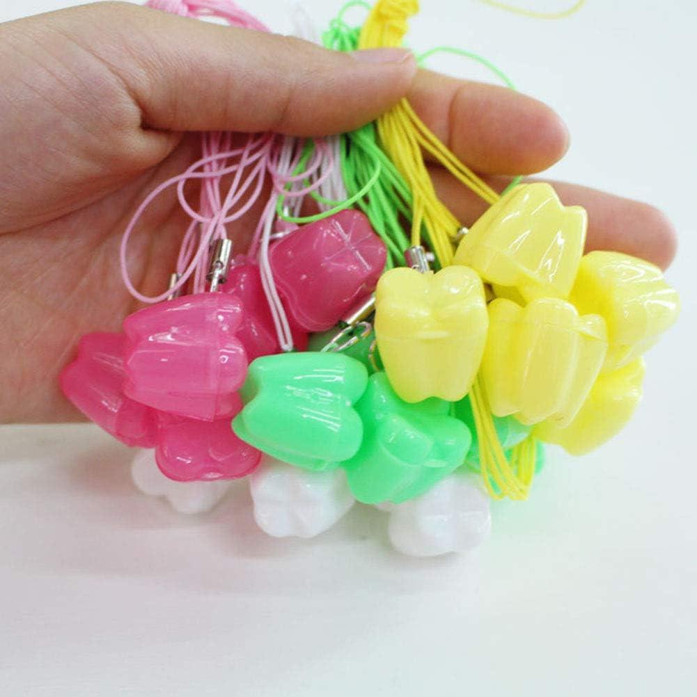 Griselda Curme Lot de 50 bo/îtes de rangement pour dents de b/éb/é mini bo/îtes de rangement en forme de dent bo/îte de lait durable solide pour gar/çons et filles