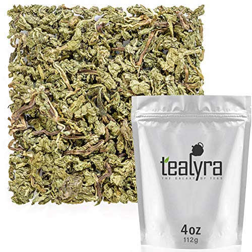 (Tealyra - Peppermint Absolute - Unique Whole Leaves Peppermint - Digestive - Relaxing - Loose Tea - Caffeine-Free - Naturally Grown - 112g (4-ounce))