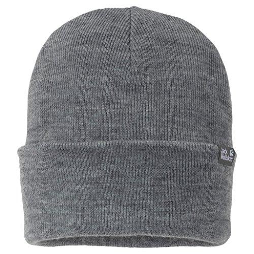 Patagonia Lightweight Ski Hat (Jack Wolfskin Rib Hat, Grey Heather, One Size (21 5/8