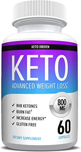 Keto Diet Pills That Work – Weight Loss Supplements to Burn Fat Fast – Boost Energy and Metabolism – Best Ketosis Supplement for Women and Men – Nature Driven – 60 Capsules