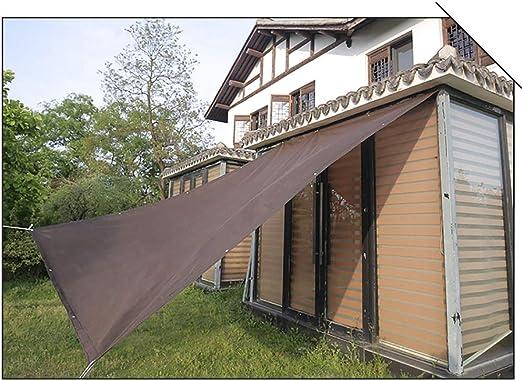 GuoWei Marrón Oscuro Velas de Sombra 85% Solar Obstruido Red Malla con Ojal Jardín Patio Al Aire Libre Personalizable (Size : 2x3m): Amazon.es: Jardín