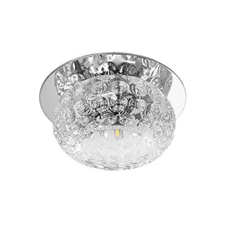 Lámpara de Techo LED Plafón de techo Moderna luces joya de vidrio de cristal luz de techo lámparas de luz Candelabro de cristal Luces (5W Colorido)
