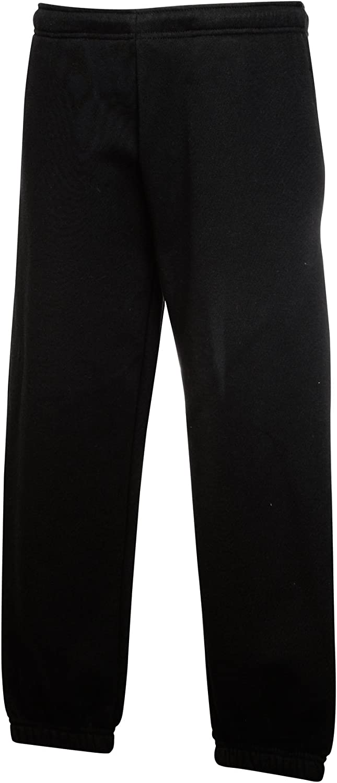 New Premium 70//30 Elasticated Jog Pants Childrens Side Pockets Drawcord Trouser