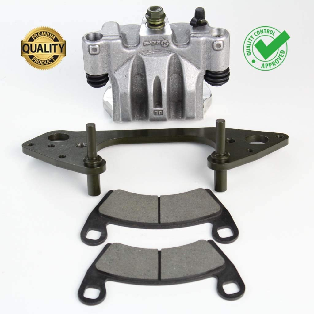 NICHE Front Left Brake Caliper Pads Mounting Bracket For 2014-2017 Polaris Ranger Crew 900 RZR 1000 Replaces 1912261 1912134