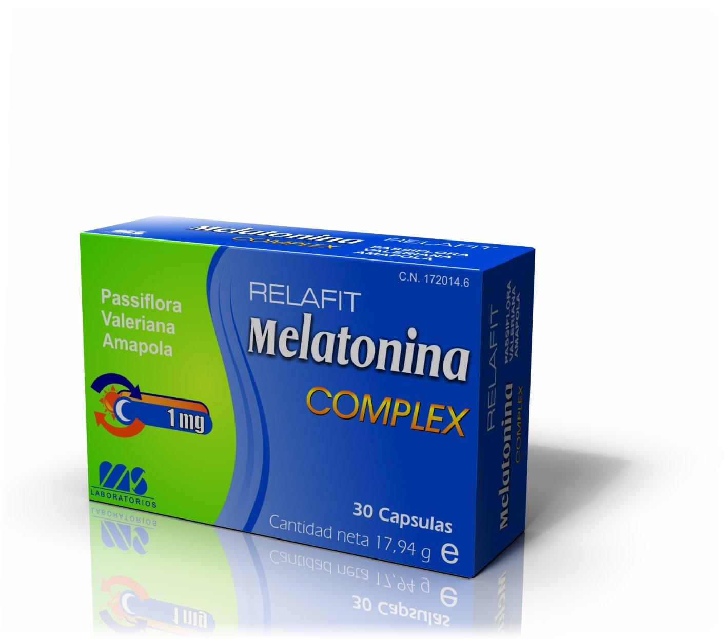 Relafit Cápsulas de Melatonina Complex Blister - 30 unidades: Amazon.es: Salud y cuidado personal