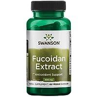 Swanson 100% Pure Maximum-Strength Fucoidan Extract 500 Milligrams 60 Veg Capsules