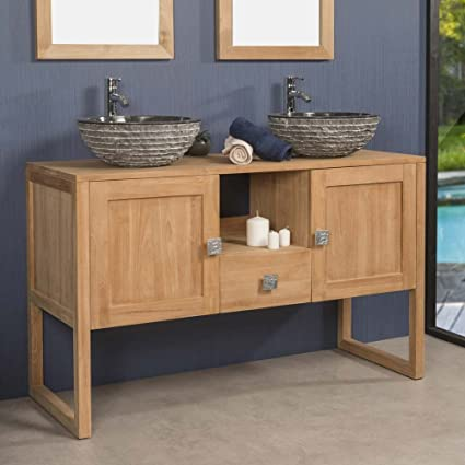wanda collection Mueble de Teca Cuarto de baño THEA 130 CM