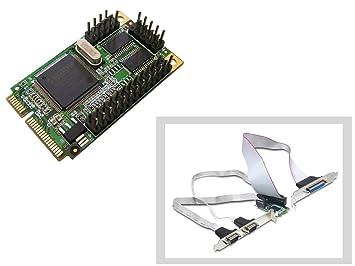 Mini PCI-EXPRESS I/O tarjeta (2 x rs-232, 1 x paralelo): Amazon.es ...