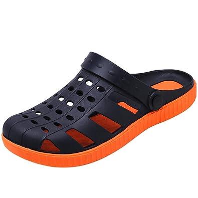 Herren Rund Toe Baotou Sandalen Leichte Bequeme Sommer Atmungsaktive Klettverschluss Schnalle Sandaletten Schwarz 39 EU VH73rQu8Q
