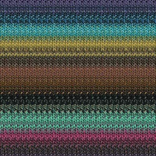 Noro Taiyo 130 Lot A Cotton Silk Wool Yarn Violet Brown Turquoise Fuchsia