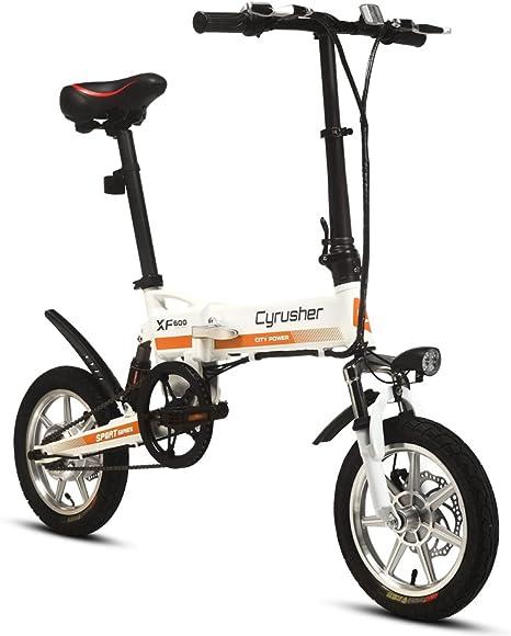 Cyrusher® XF600 Bicicleta Eléctrica Blanco naranja 240W 36V ...
