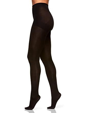 a21a76e53894a Berkshire The Easy On! Rib Texture Tights, Black, Tall at Amazon ...