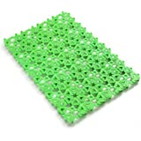 4-Pack Pet Mat for Bunny Rabbit Cage, 11.8 x 7.87 Inches Per Pieces Plastic Heart Hole Splice Feet Pad Water Leak Holder in Cages Dog Cat Rabbit Mats (Green)