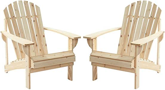 Amazon Com 2 Pack Outdoor Folding Adirondack Chair Hampton Bay Adirondack Chair Patio Chair