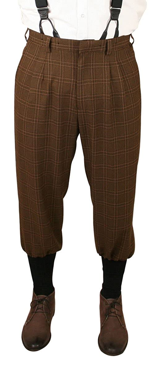 Edwardian Men's Pants, Trousers, Overalls Harvey Plaid Knickers $64.95 AT vintagedancer.com