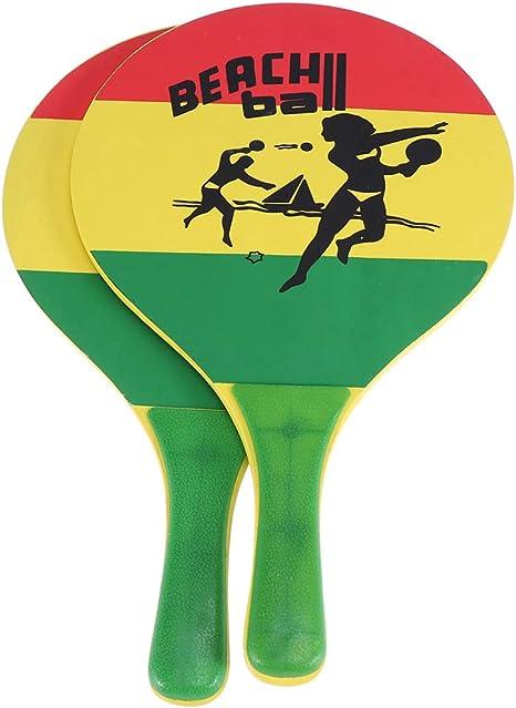LIOOBO Raqueta de bádminton de 1 Raqueta de Paddle de Pelota de ...