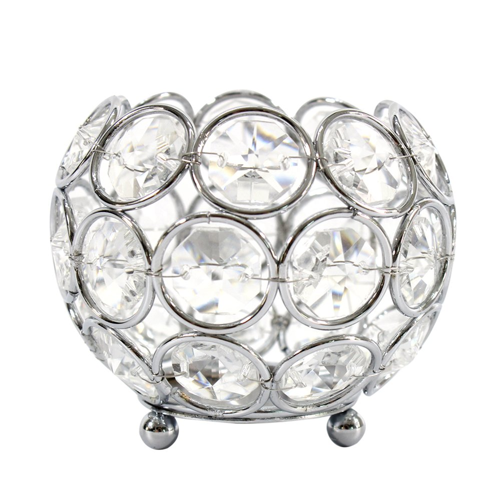Dehomy Crystal Votive Tealight Candle Holder Wedding, Home, Candlelit Banquet Decoration Dinning Table Centerpieces(Gold) hibuy