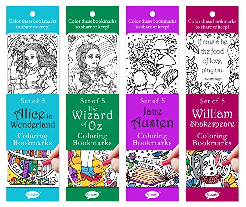 Re-Marks Literary Colormarks 4 Pack - Alice in