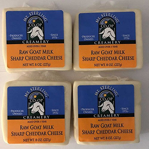 (Sharp Cheddar Raw Milk Goat Cheese - Four 8 oz. Packs)