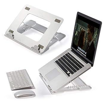 Womdee - Soporte para Tablet y Ordenador portátil, Plegable, de Aluminio, ventilado,