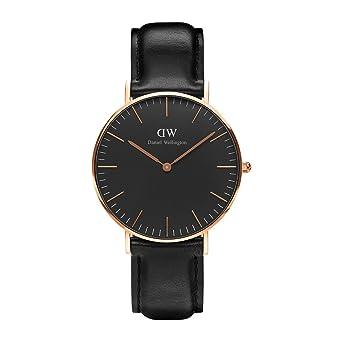 Daniel Wellington Reloj Análogo clásico para Unisex de Cuarzo con Correa en Cuero DW00100139: Amazon.es: Relojes