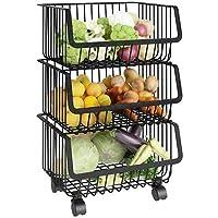 Storage Rack Kitchen Home Multi-function Floor Kitchen Shelf Multi-layer Vegetable And Fruit Storage Rack Kitchen Supplies (Color : 3 layer)