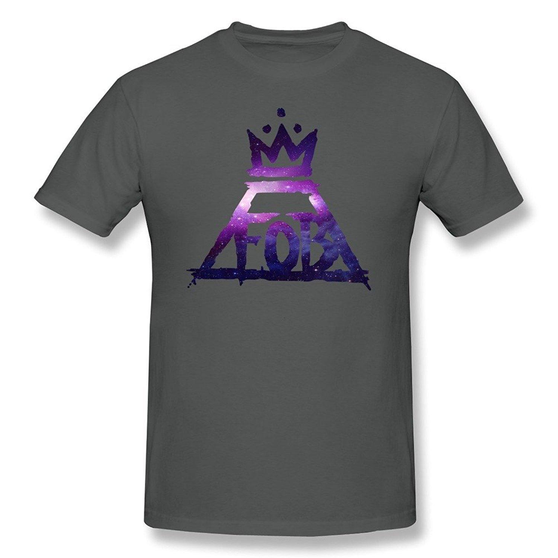 Zelura S Fall Out Boy Fob Logo Tshirts Black