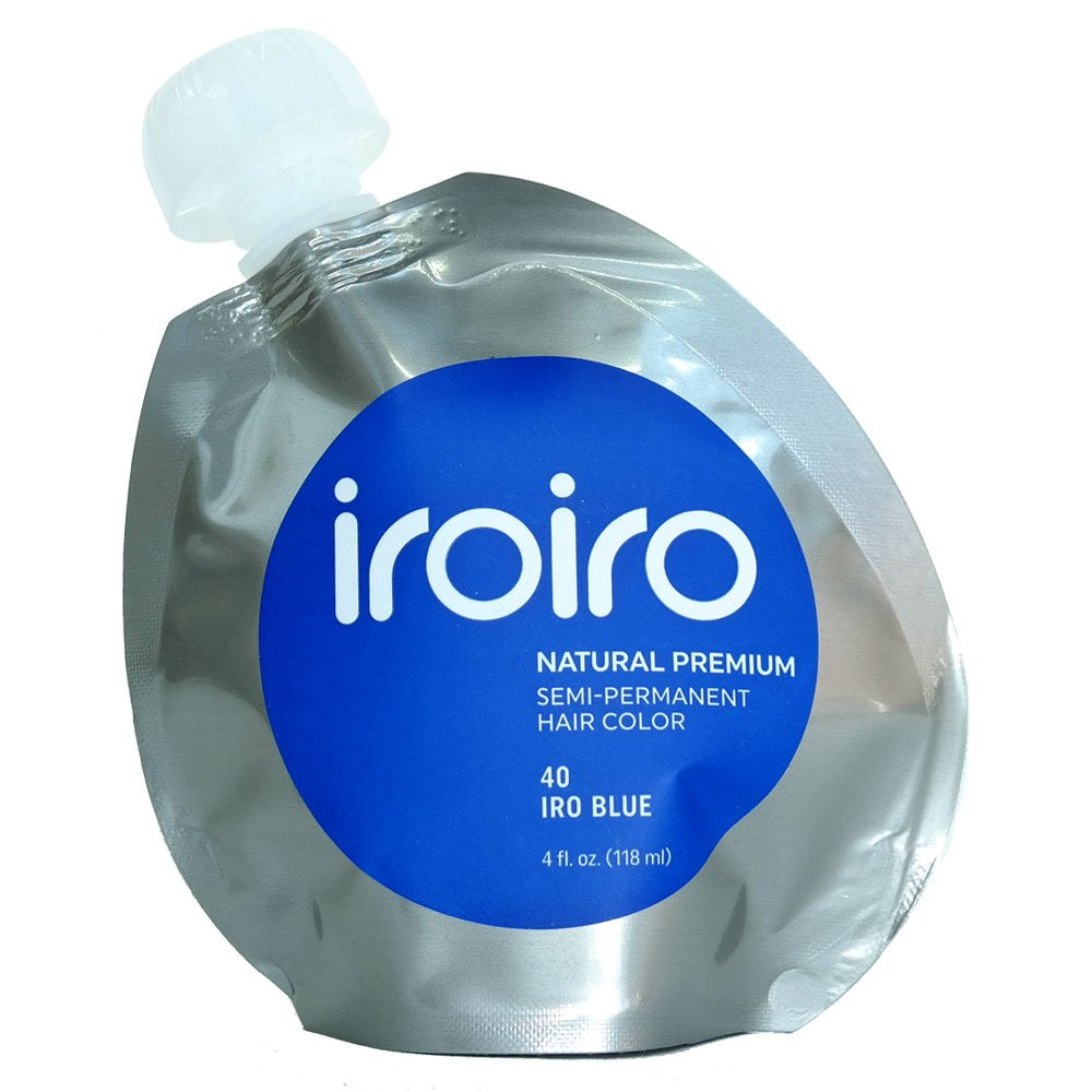Tinte Iroiro premium, natural y semipermanente para el pelo, color 40 iro azul, 113 g. color 40 iro azul District713 Inc 40-BLU