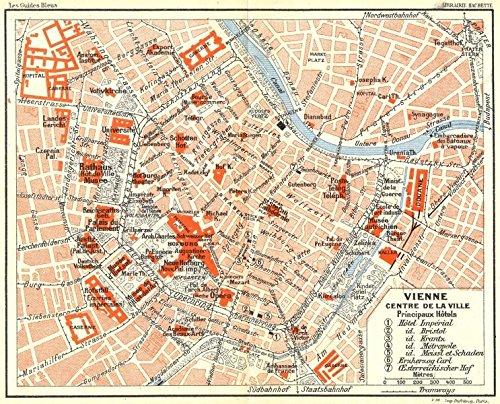AUSTRIA Vienne Vienna 1914 map Amazoncouk Kitchen Home