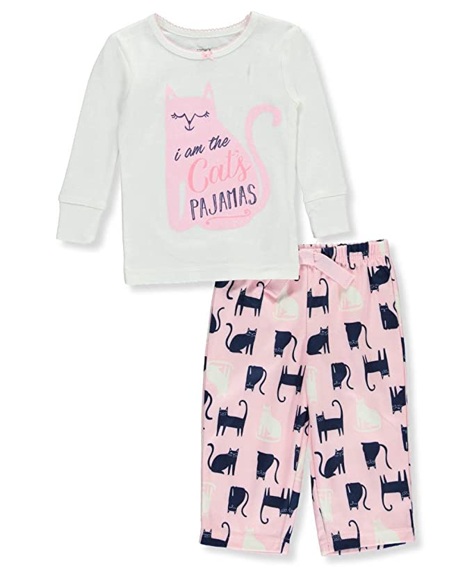 c967076480c4 Amazon.com  Carter s Baby Girls  12M-24M 2 Piece Cat Fleece Pajama ...