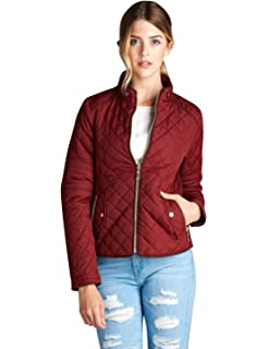 Amazon.com: Olivia Miller Womens Faux Leather Moto Biker ...