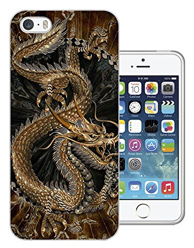 002693 - Brown Whimsical Chinese Dragon Design iphone 4 4S Fashion Trend CASE Gel Rubber Silicone All Edges Protection Case Cover