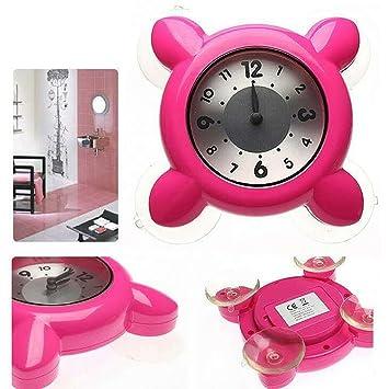 Amazon.de: Hense Dusche oder Badezimmer Uhr, wasserdicht, mit ...