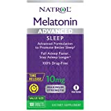 Natrol Melatonin Advanced Sleep Tablets with Vitamin B6, Helps You Fall Asleep Faster, Stay Asleep Longer, 2-Layer…